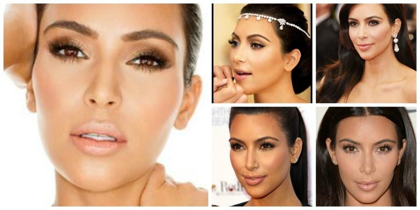 Kim K Makeup Collage