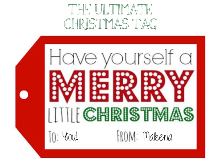 The Ultimate Christmas Tag   The Twelve Days ofChristmas