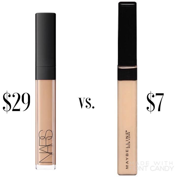 NARS Radiant Creamy Concealer VS. Maybelline Fit Me Concealer |Dupe