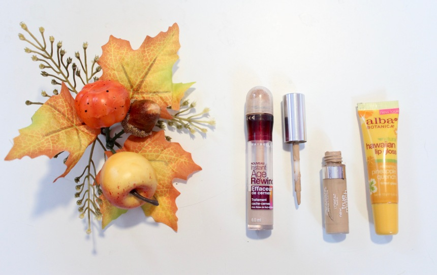 MaybellineLorealConcealerAlbaLipGlossThankful.jpg