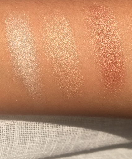 Dry Swatches in Direct Sunlight