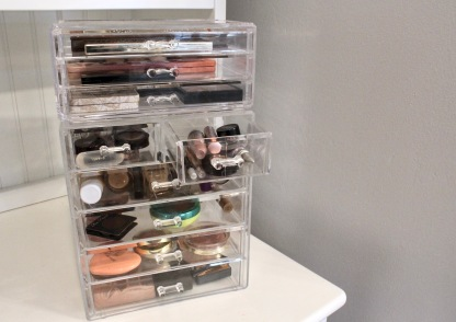 1) Cosmetics Storage Display + 6) Acrylic Cosmetic Storage Set