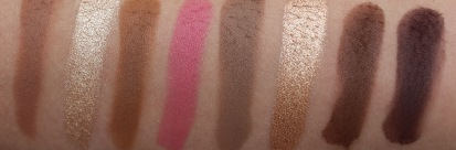 Swatches of the two bottom rows of the BH Hangin in Hawaii Palette